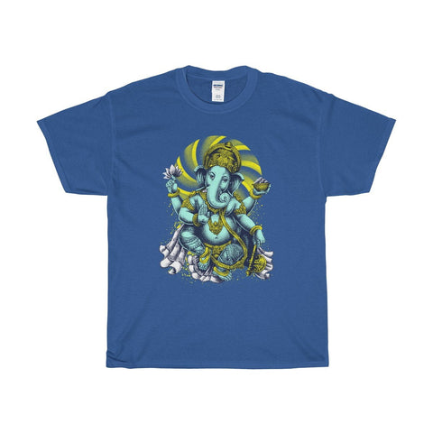 Unisex Heavy Cotton Tee, Ganesha Spiritual design T-shirt.