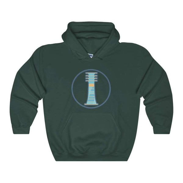 Djed Pillar Ancient Egyptian Symbol Unisex Heavy Blend Hooded Sweatshirt - Forest Green / S - Hoodie
