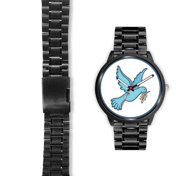 Dove Christian Peace Symbol Custom-Designed Wrist Watch - Black Watch