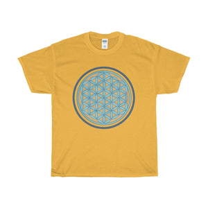 Unisex Heavy Cotton Tee, Buddhist Flower of Life Symbol T-shirt