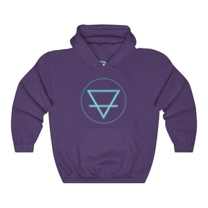 Earth Element Alchemy Wiccan Symbol Unisex Heavy Blend Hooded Sweatshirt - Purple / L - Hoodie