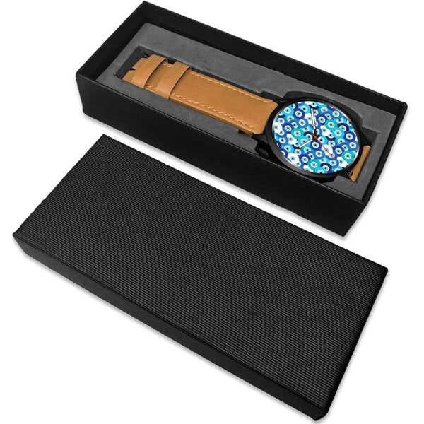 Evil Eye Design Multi Turkish Evil Eye Pattern Custom-Designed Wrist Watch - Watch