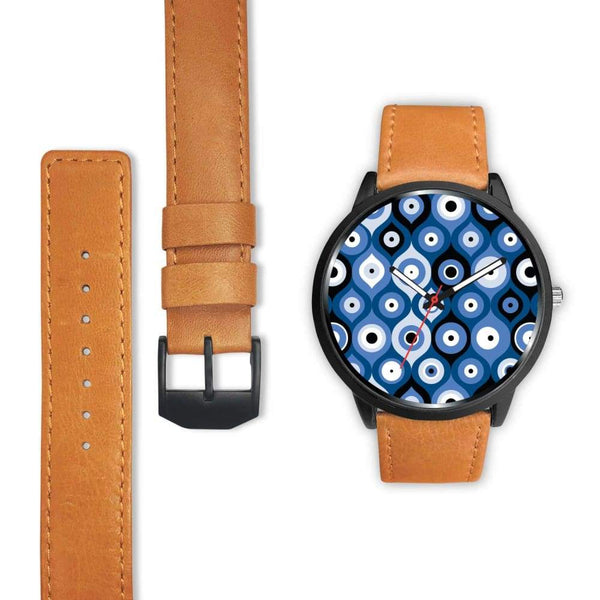 Evil Eye Geometric Design Multi Turkish Evil Eye Pattern Custom-Designed Wrist Watch - Watch