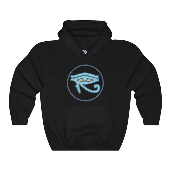 Eye Of Horus Ancient Egyptian Symbol Unisex Heavy Blend Hooded Sweatshirt - Black / S - Hoodie