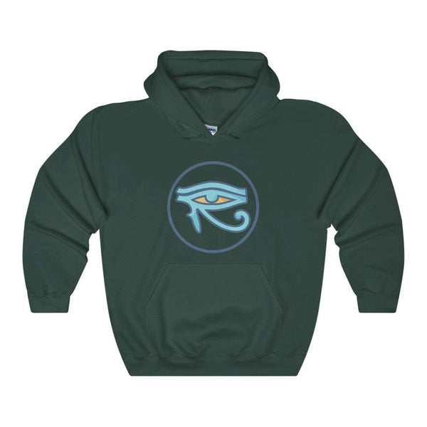 Eye Of Horus Ancient Egyptian Symbol Unisex Heavy Blend Hooded Sweatshirt - Forest Green / S - Hoodie