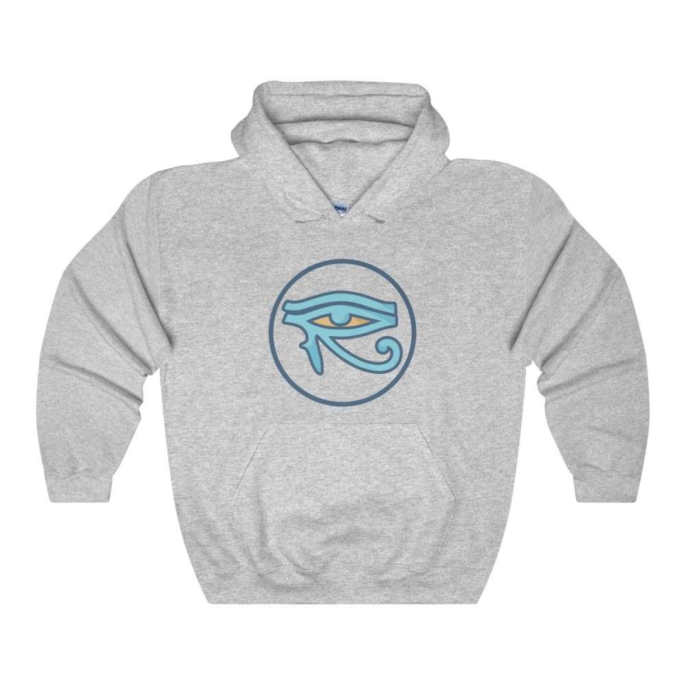 Eye Of Horus Ancient Egyptian Symbol Unisex Heavy Blend Hooded Sweatshirt - Sport Grey / L - Hoodie
