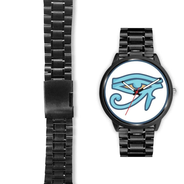 Eye Of Ra Ancient Egyptian Symbol Custom-Designed Wrist Watch - Black Watch