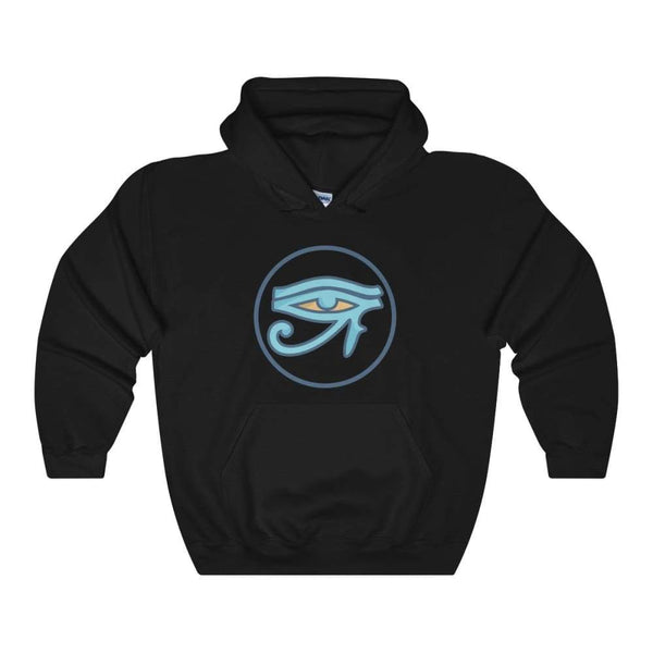 Eye Of Ra Ancient Egyptian Symbol Unisex Heavy Blend Hooded Sweatshirt - Black / S - Hoodie
