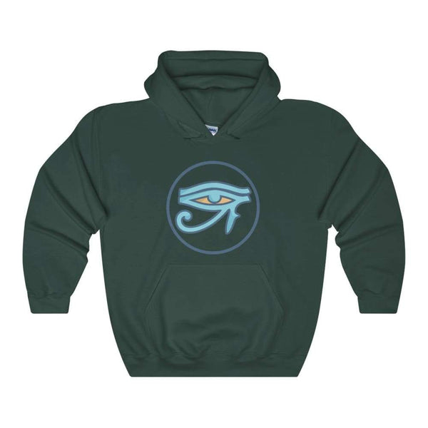 Eye Of Ra Ancient Egyptian Symbol Unisex Heavy Blend Hooded Sweatshirt - Forest Green / S - Hoodie