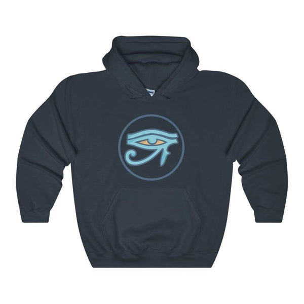 Eye Of Ra Ancient Egyptian Symbol Unisex Heavy Blend Hooded Sweatshirt - Navy / L - Hoodie