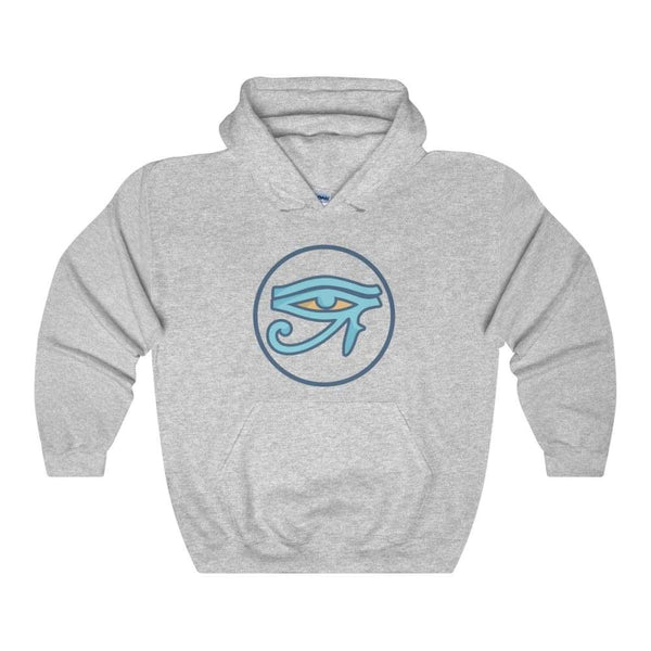 Eye Of Ra Ancient Egyptian Symbol Unisex Heavy Blend Hooded Sweatshirt - Sport Grey / S - Hoodie
