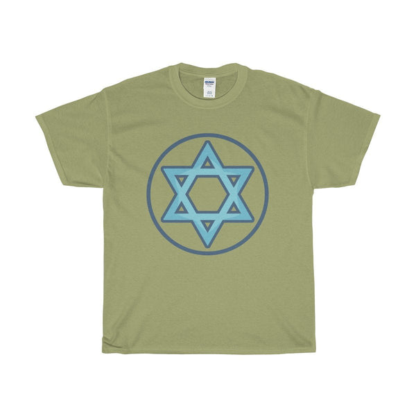 Unisex Heavy Cotton Tee, Hexagram Wiccan Spiritual Symbol T-shirt