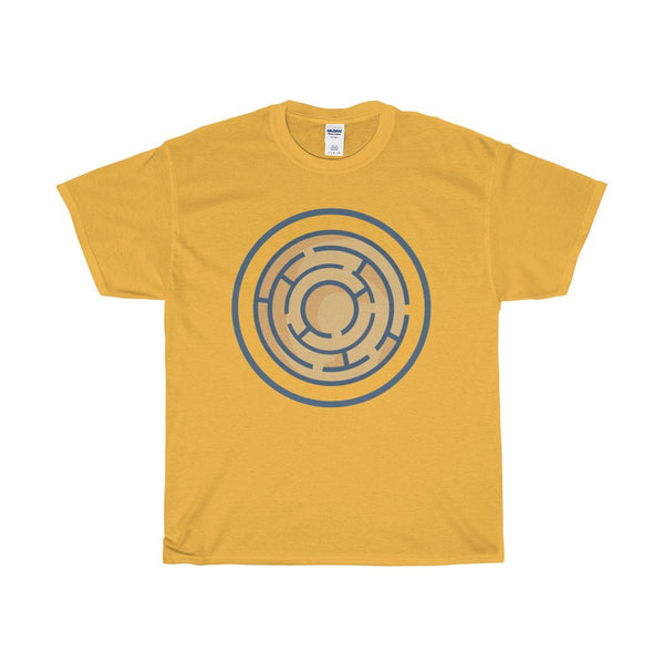 Unisex Heavy Cotton Tee, Labyrinth Maze, Ancient Egyptian Symbol T-shirt