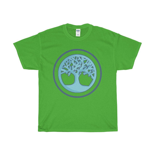 Unisex Heavy Cotton Tee, The Tree Of Life Buddhist Wiccan Spiritual T-shirt
