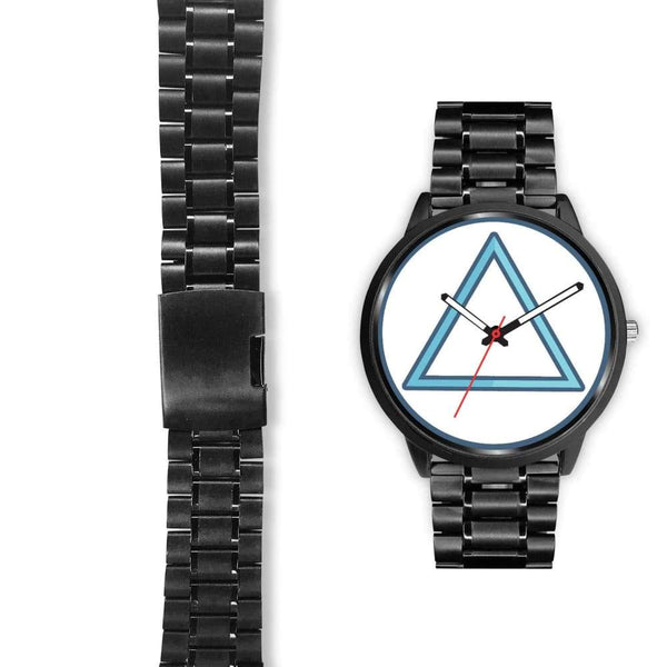 Fire Element Alchemy Wiccan Symbol Custom-Designed Wrist Watch - Black Watch