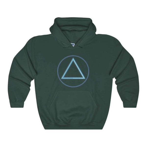 Fire Element Alchemy Wiccan Symbol Unisex Heavy Blend Hooded Sweatshirt - Forest Green / S - Hoodie