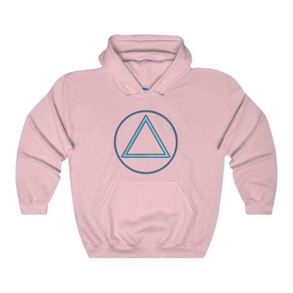 Fire Element Alchemy Wiccan Symbol Unisex Heavy Blend Hooded Sweatshirt - Light Pink / S - Hoodie