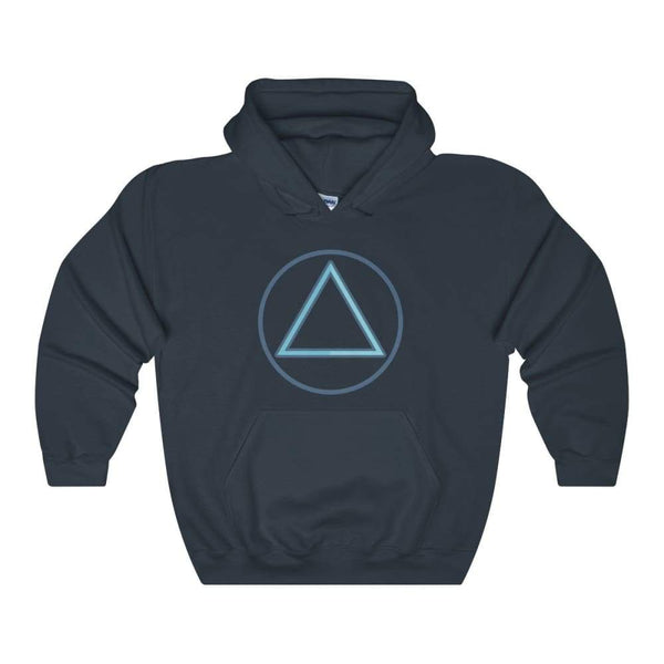 Fire Element Alchemy Wiccan Symbol Unisex Heavy Blend Hooded Sweatshirt - Navy / S - Hoodie