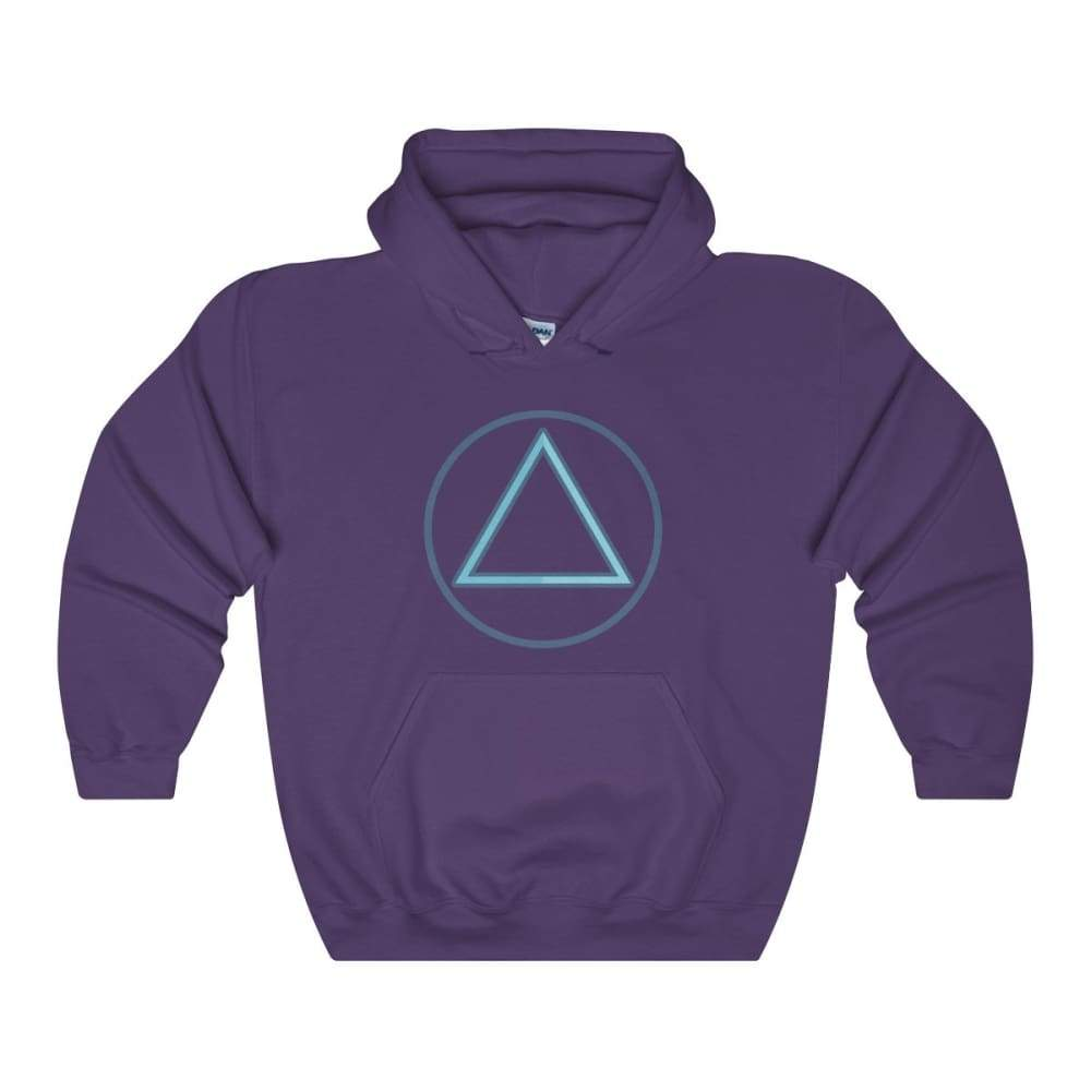 Fire Element Alchemy Wiccan Symbol Unisex Heavy Blend Hooded Sweatshirt - Purple / L - Hoodie