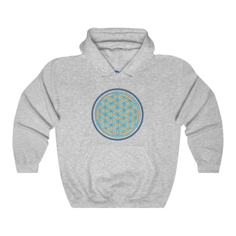 Flower Of Life Wiccan Pagan Symbol Unisex Heavy Blend Hooded Sweatshirt - Sport Grey / L - Hoodie