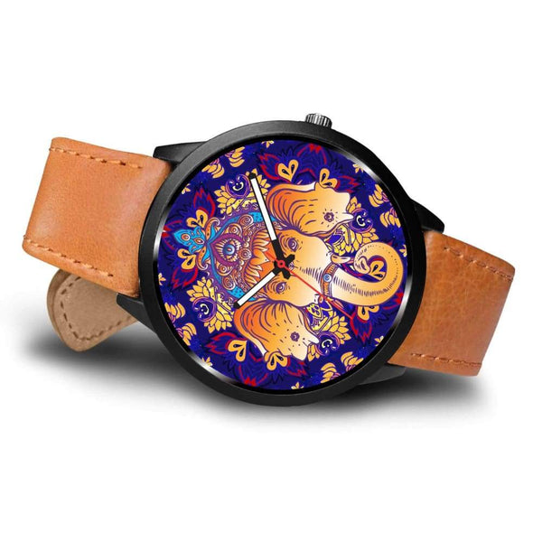Ganesha Design. Ganesh Hindu / Buddhist Pattern Custom-Designed Wrist Watch - Watch