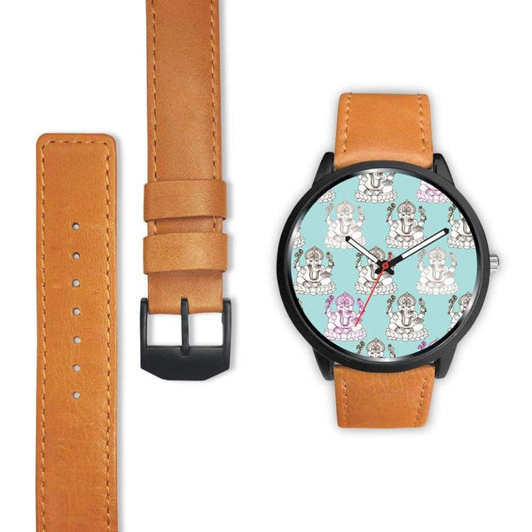 Ganesha Design Ganesh Hindu / Buddhist Repeated Pattern Custom-Designed Wrist Watch - Watch
