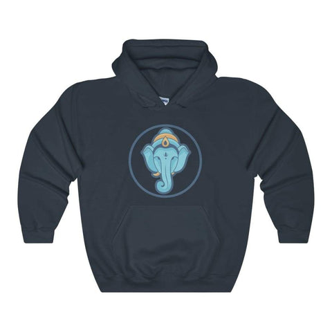 Ganesha Hindu Buddhist God Symbol Unisex Heavy Blend Hooded Sweatshirt - Navy / L - Hoodie