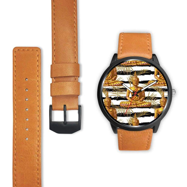 Golden Buddha Pattern Buddhist Design Custom-Designed Wrist Watch - Watch