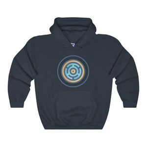 Hecates Wheel Ancient Greek Symbol Unisex Heavy Blend Hooded Sweatshirt - Navy / L - Hoodie