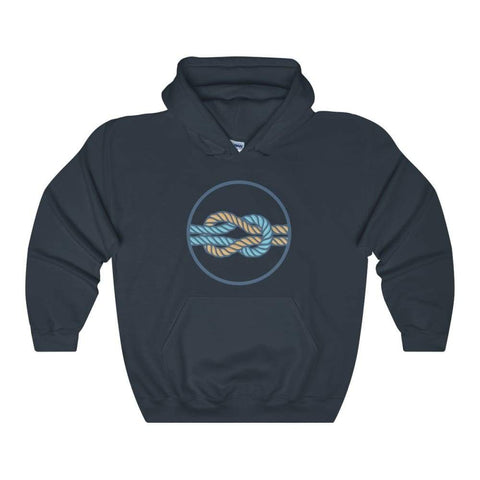 Hercules Knot Love Knot Ancient Greek Symbol Unisex Heavy Blend Hooded Sweatshirt - Navy / L - Hoodie