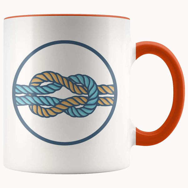 Hercules Knot Love Knot Spiritual Symbol 11Oz. Ceramic White Mug - Orange - Drinkware
