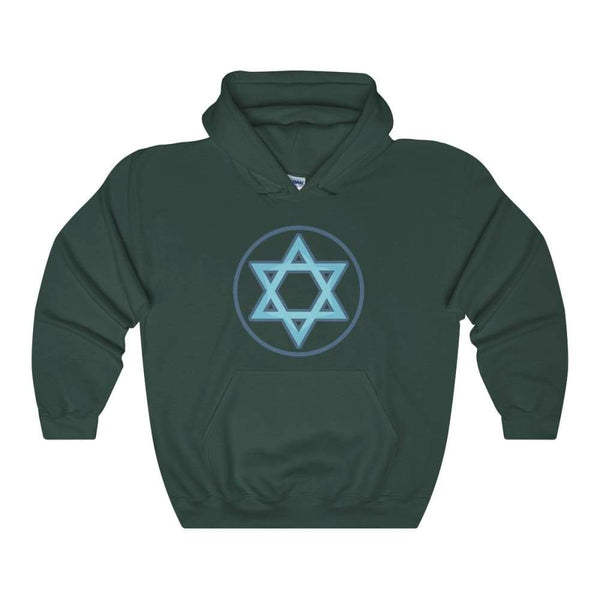 Hexagram Wiccan Pagan Symbol Unisex Heavy Blend Hooded Sweatshirt - Forest Green / S - Hoodie