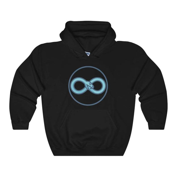 Infinity Snake Ouroboros Ancient Greek Symbol Unisex Heavy Blend Hooded Sweatshirt - Black / S - Hoodie