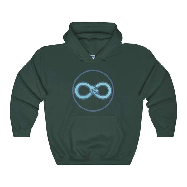 Infinity Snake Ouroboros Ancient Greek Symbol Unisex Heavy Blend Hooded Sweatshirt - Forest Green / S - Hoodie
