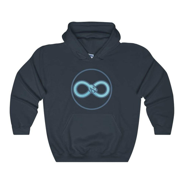 Infinity Snake Ouroboros Ancient Greek Symbol Unisex Heavy Blend Hooded Sweatshirt - Navy / L - Hoodie