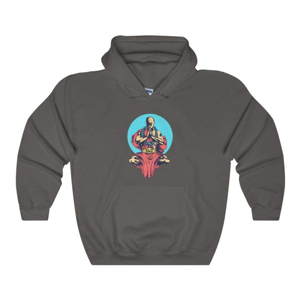 Inner Peace Meditation Buddhism Unisex Heavy Blend Hooded Sweatshirt - Charcoal / S - Hoodie