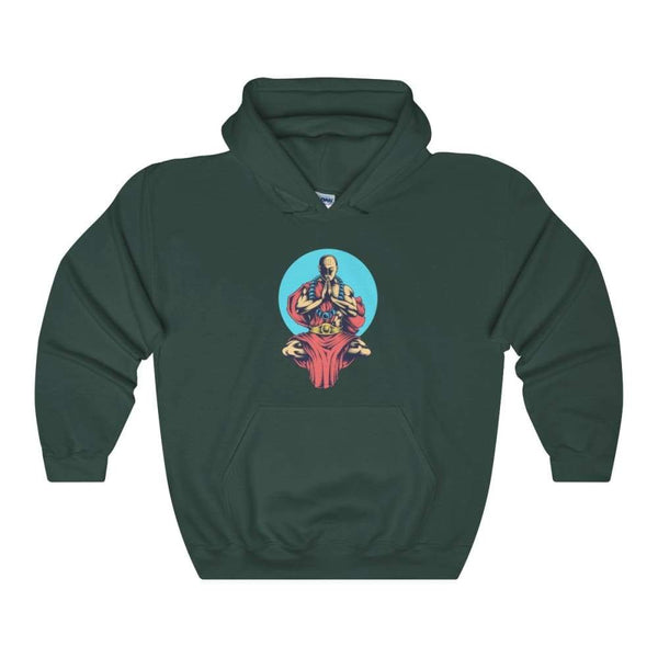 Inner Peace Meditation Buddhism Unisex Heavy Blend Hooded Sweatshirt - Forest Green / S - Hoodie