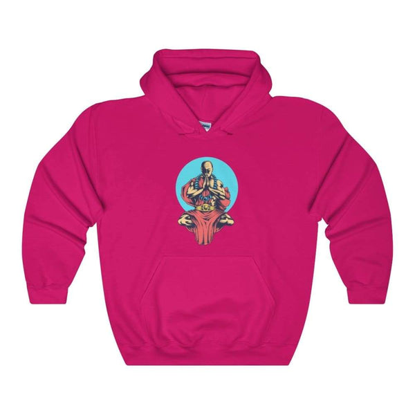 Inner Peace Meditation Buddhism Unisex Heavy Blend Hooded Sweatshirt - Heliconia / S - Hoodie