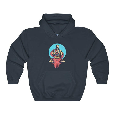 Inner Peace Meditation Buddhism Unisex Heavy Blend Hooded Sweatshirt - Navy / L - Hoodie