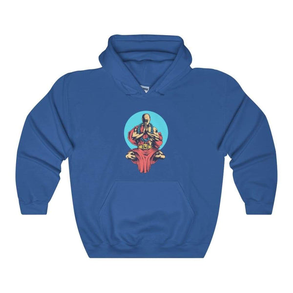 Inner Peace Meditation Buddhism Unisex Heavy Blend Hooded Sweatshirt - Royal / S - Hoodie