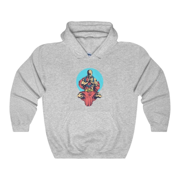 Inner Peace Meditation Buddhism Unisex Heavy Blend Hooded Sweatshirt - Sport Grey / S - Hoodie