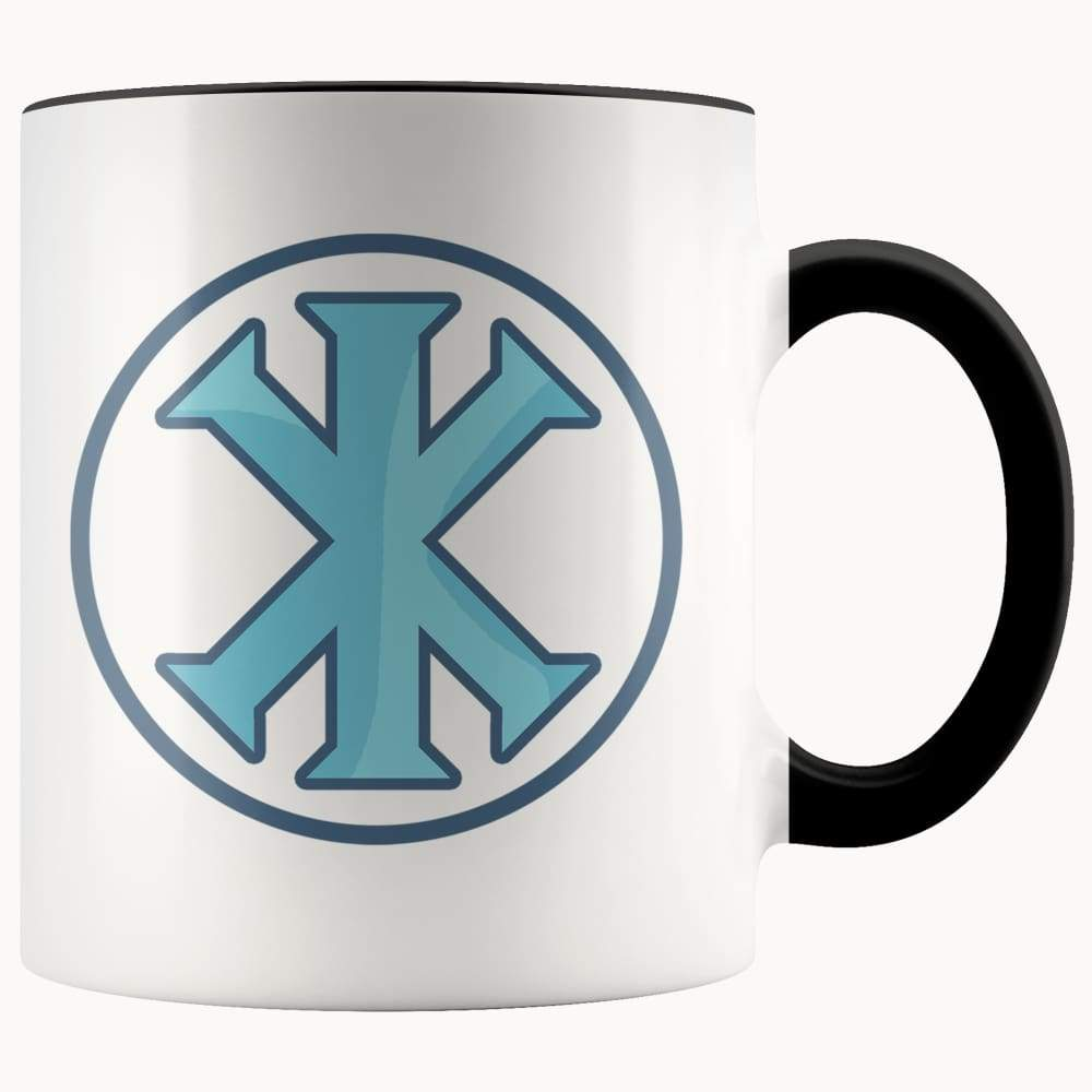 Ix Monogram Christian Symbol 11Oz. Ceramic White Mug - Black - Drinkware