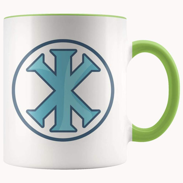Ix Monogram Christian Symbol 11Oz. Ceramic White Mug - Green - Drinkware