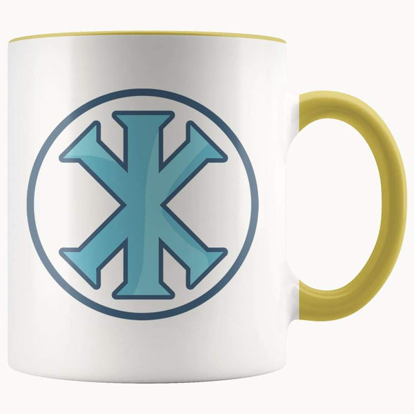Ix Monogram Christian Symbol 11Oz. Ceramic White Mug - Yellow - Drinkware