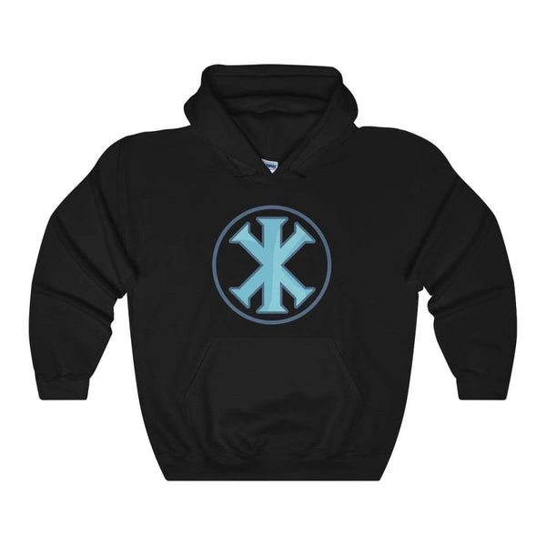 Ix Monogram Christian Symbol Unisex Heavy Blend Hooded Sweatshirt - Black / S - Hoodie