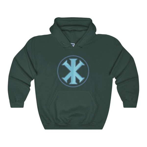 Ix Monogram Christian Symbol Unisex Heavy Blend Hooded Sweatshirt - Forest Green / S - Hoodie