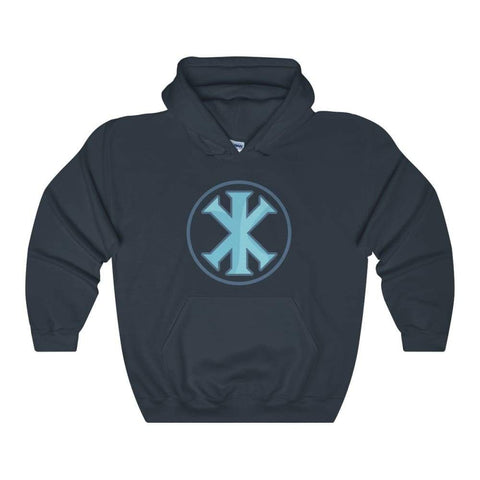 Ix Monogram Christian Symbol Unisex Heavy Blend Hooded Sweatshirt - Navy / L - Hoodie