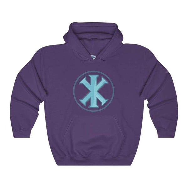 Ix Monogram Christian Symbol Unisex Heavy Blend Hooded Sweatshirt - Purple / S - Hoodie