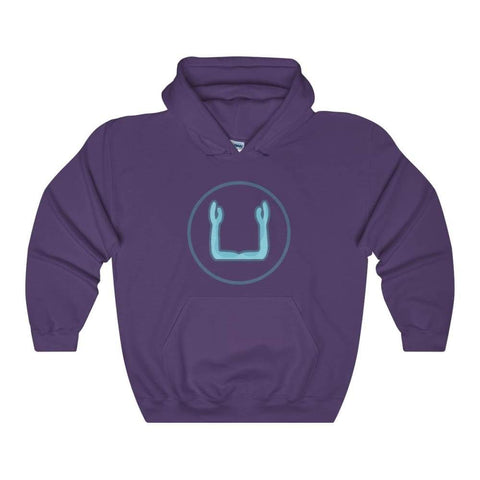 Ka Spirit Ancient Egyptian Symbol Unisex Heavy Blend Hooded Sweatshirt - Purple / L - Hoodie
