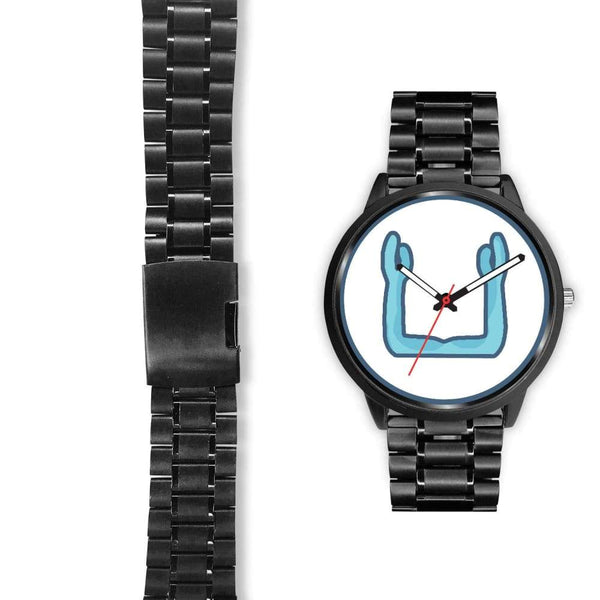 Ka Symbol Ancient Egyptian Symbol Custom-Designed Wrist Watch - Black Watch